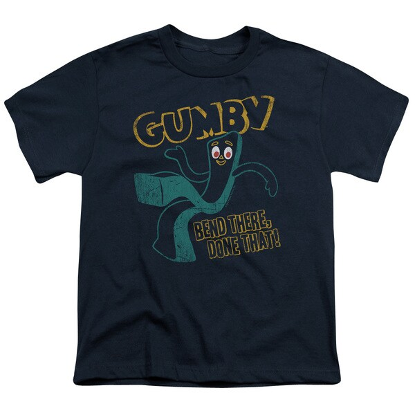 Gumby/Bend There Short Sleeve Youth 18/1 in Navy