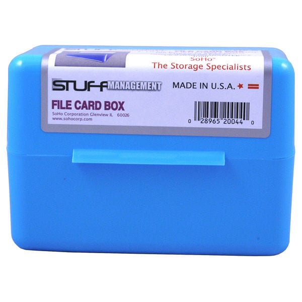 "Soho FB-35 3"" X 5"" Index Card File Box Assorted Colors"