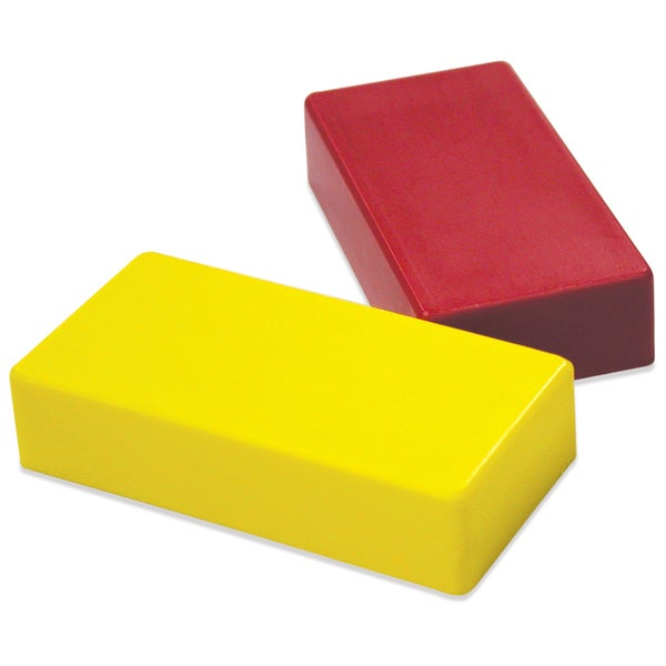 "Master Magnetics 07276 .5"" X 1"" X 2"" Red & Yellow Hold Everything Magnets"