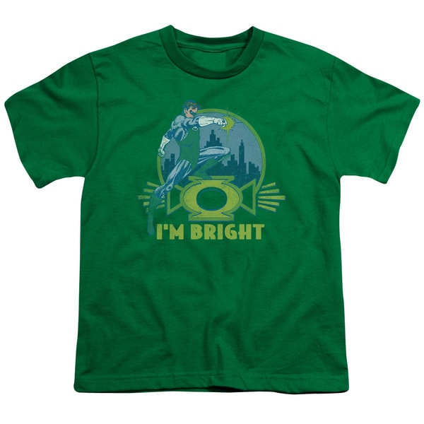 Green Lantern/I'M Bright Short Sleeve Youth 18/1 in Kelly Green