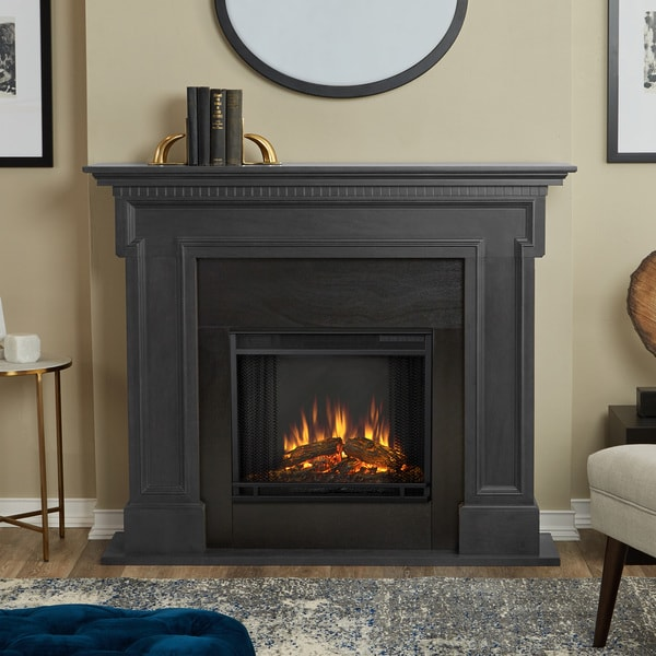 Real Flame Thayer Grey Finish Electric Fireplace 21108605