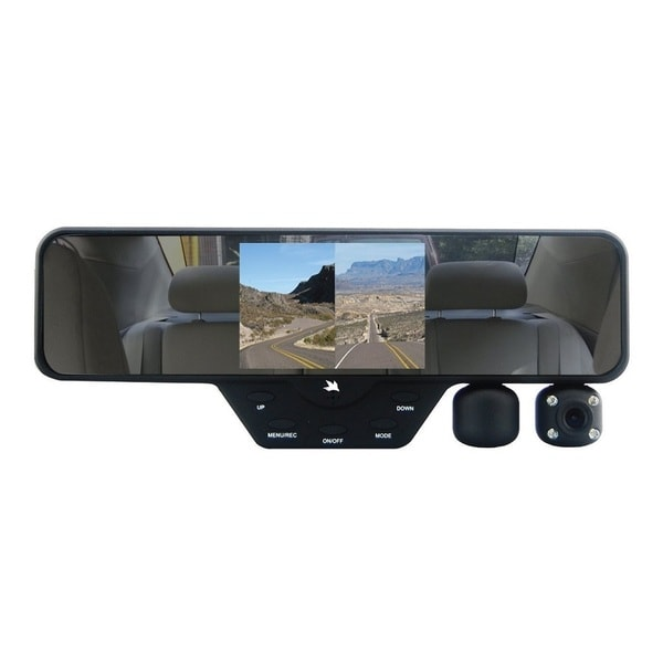 Falcon Zero F360 DVR 1080P Rearview Mirror Dual Dash Cam