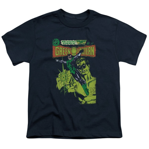 Green Lantern/Vintage Cover Short Sleeve Youth 18/1 Navy