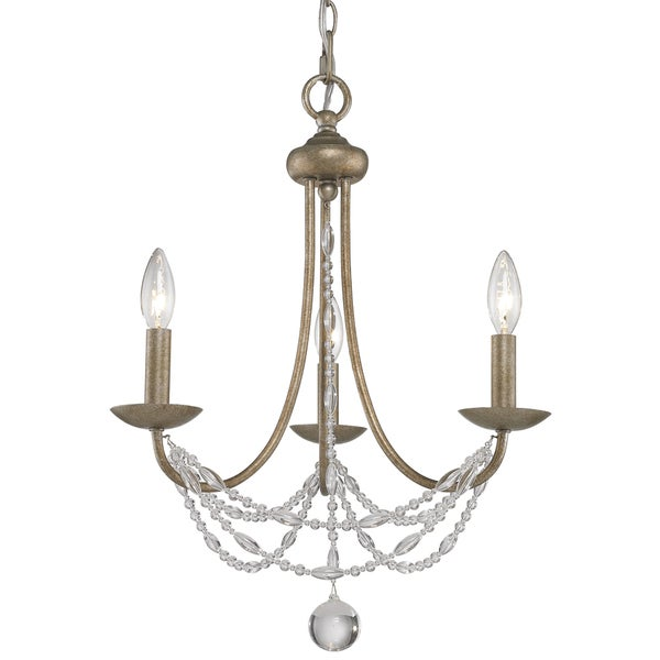 Golden Lighting #7644-M3 GA Mirabella 3-light Mini Chandelier