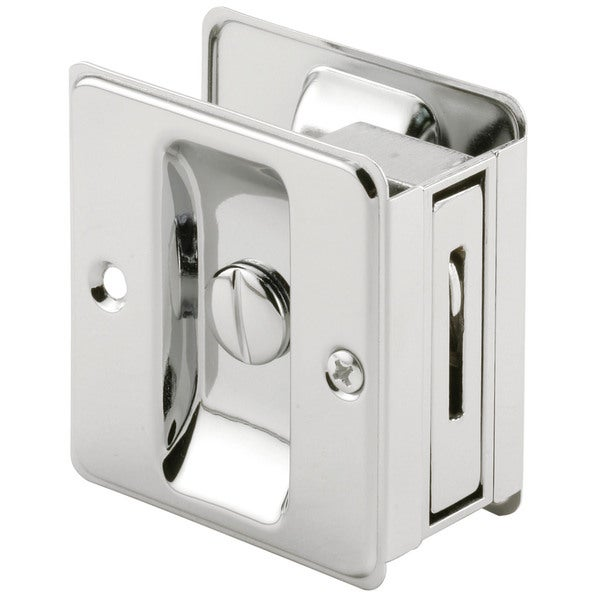 Prime Line N6773 Chrome Pocket Door Privacy Lock
