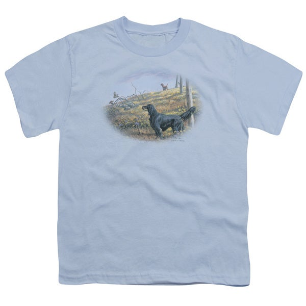 Wildlife/Looking Back Short Sleeve Youth 18/1 Light Blue
