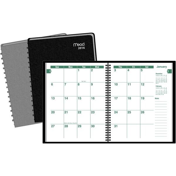 MeadWestvaco TLMM0210 Large Print Monthly Planner