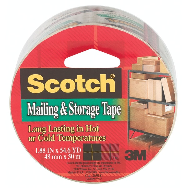 "3M 3650 2"" x 55 Yds Clear Scotch Super Packaging Tape"