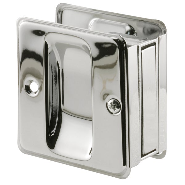 "Prime Line N7085 1-3/8"" Polished Chrome Finish Pocket Door Pull"