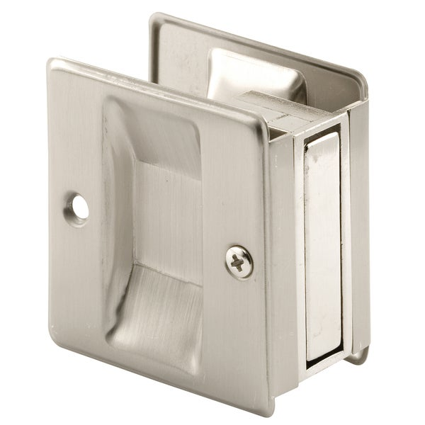 "Prime Line N7238 1-3/8"" Satin Nickel Pocket Door Handle & Pull"