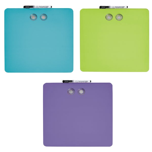 "Quartet TSQ1212 11.5"" X 11.5"" Assorted Colors Square Magnetic Whiteboards"