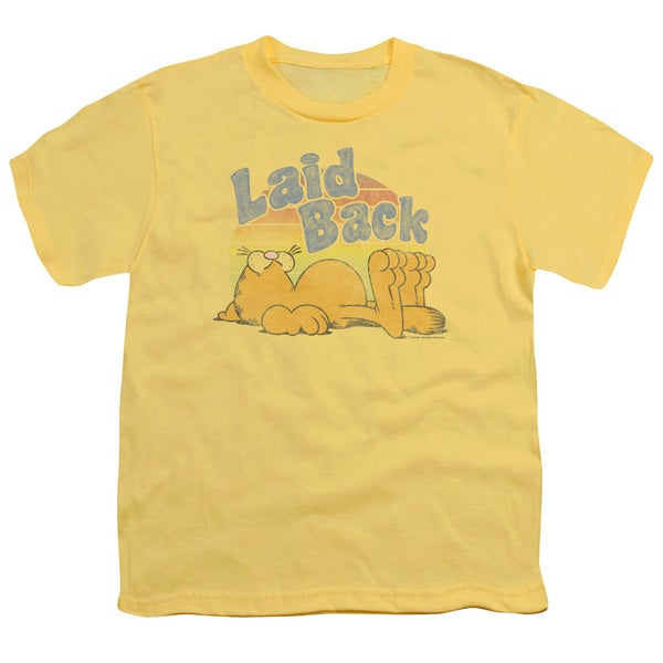 Garfield/Rad Garfield Short Sleeve Youth 18/1 in Banana