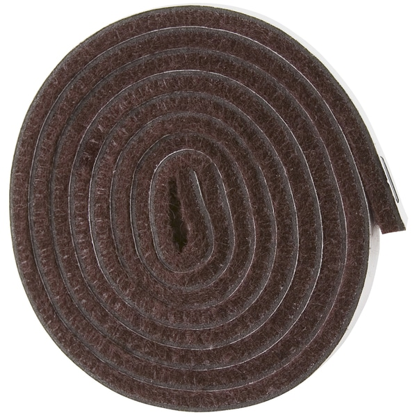 "Soft Touch 4220095N 1/2"" X 60"" Brown Heavy Duty Felt Strip 1 Roll"