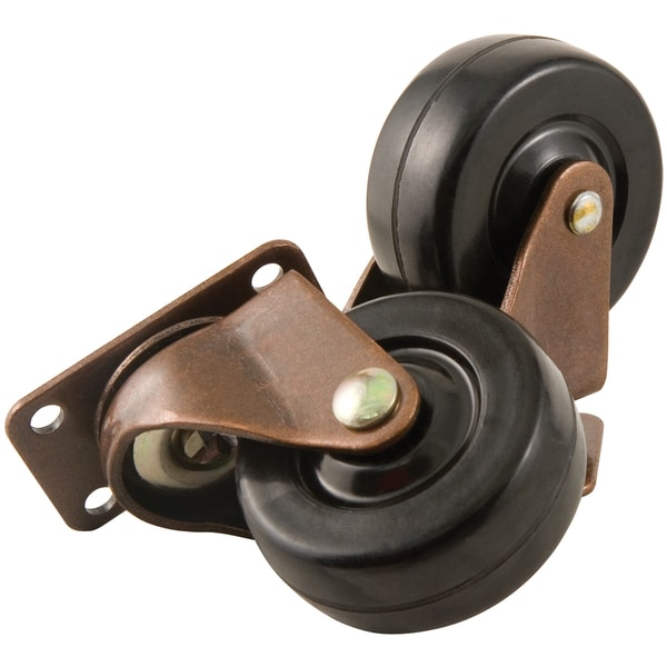 "Waxman Consumer Group 4384795N 2"" Black Heavy-Duty Swivel Plate Caster 2-ct"