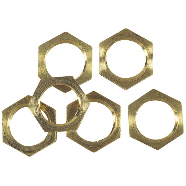 Westinghouse 7062100 6-ct Solid Brass Hex Nuts