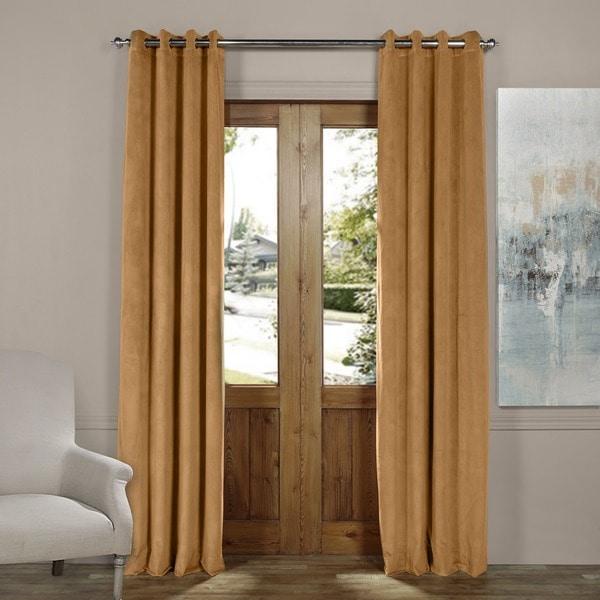 Exclusive Fabrics Signature Blackout Velvet Grommet Top Curtain Panel 21114148