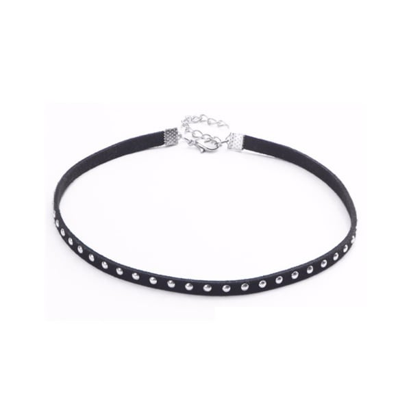 Black Beaded Strap Choker