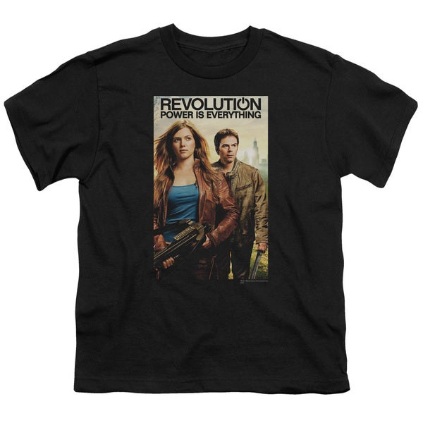 Revolution/Poster Short Sleeve Youth 18/1 in Black