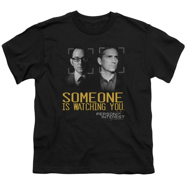 Person Of Interest/Someone Short Sleeve Youth 18/1 Black