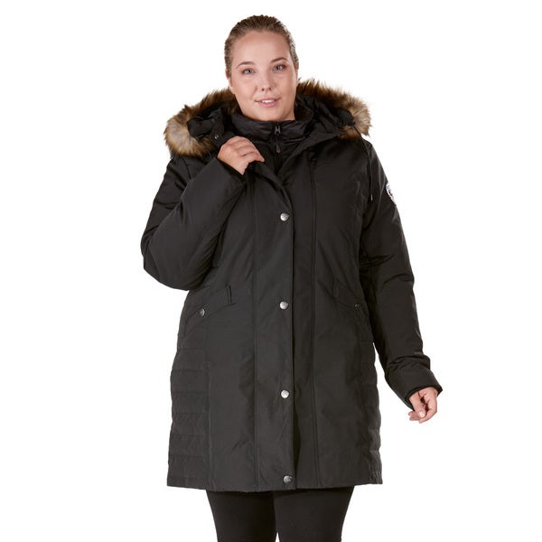 Nuage Arctic Expedition Black Polyester/Cotton Plus-size Down Coat