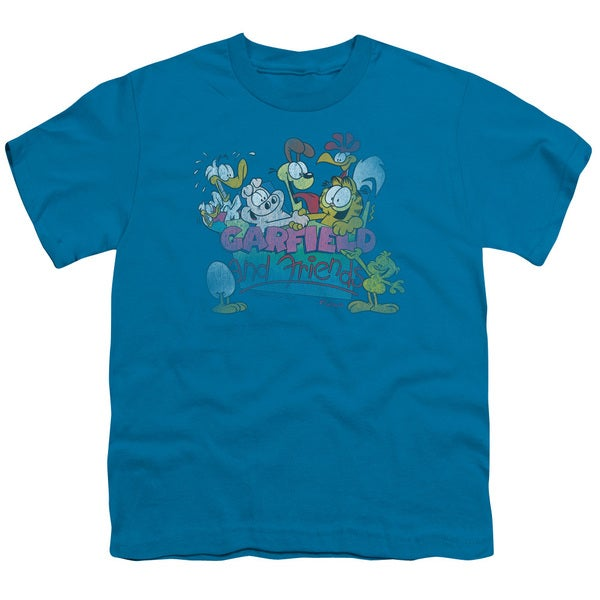 Garfield/Garfield and Friends Short Sleeve Youth 18/1 in Turquoise
