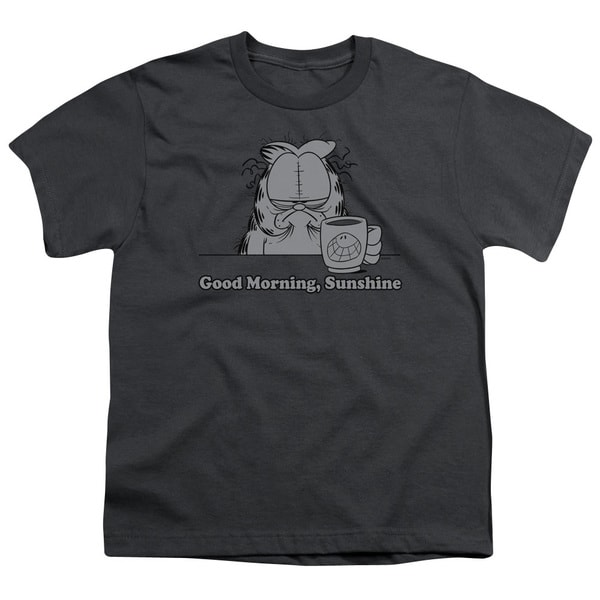 Garfield/Good Morning Sunshine Short Sleeve Youth 18/1 Charcoal