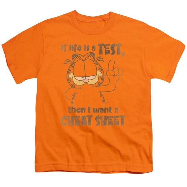 Garfield/Cheat Sheet Short Sleeve Youth 18/1 in Orange