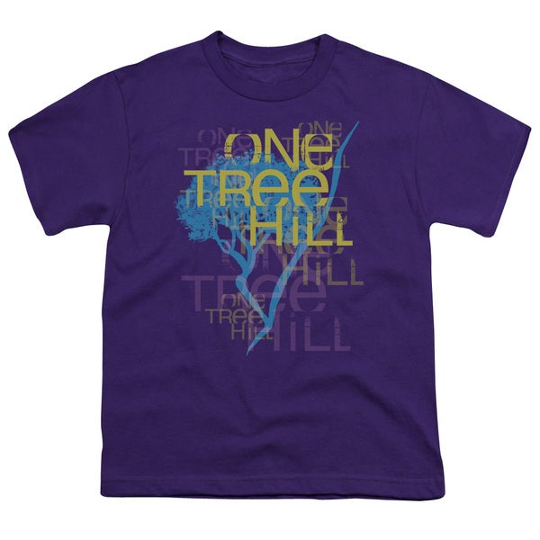 One Tree Hill/Title Short Sleeve Youth 18/1 in Purple
