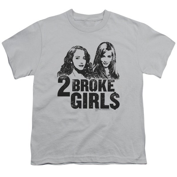 2 Broke Girls/Broke Girls Short Sleeve Youth 18/1 in Silver