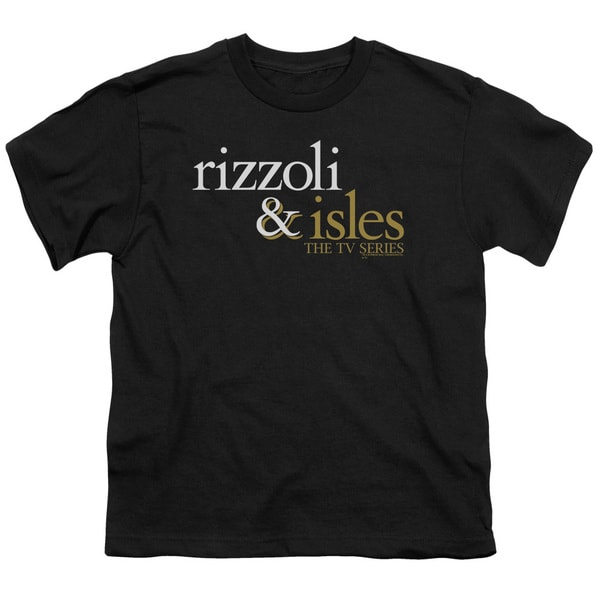 Rizzoli & Isles/Logo Short Sleeve Youth 18/1 in Black