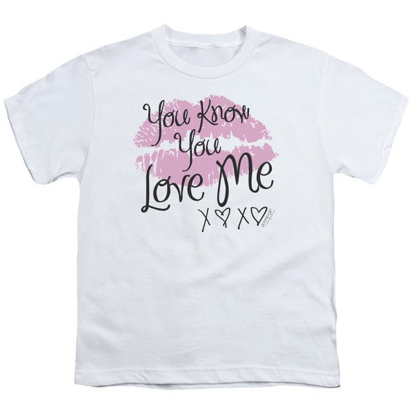 Gossip Girl/You Love Me Short Sleeve Youth 18/1 in White