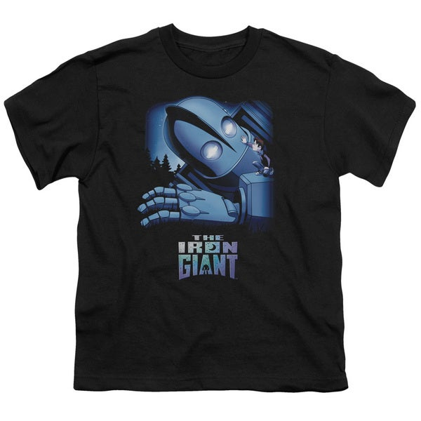 Iron Giant/Giant and Hogarth Short Sleeve Youth 18/1 in Black