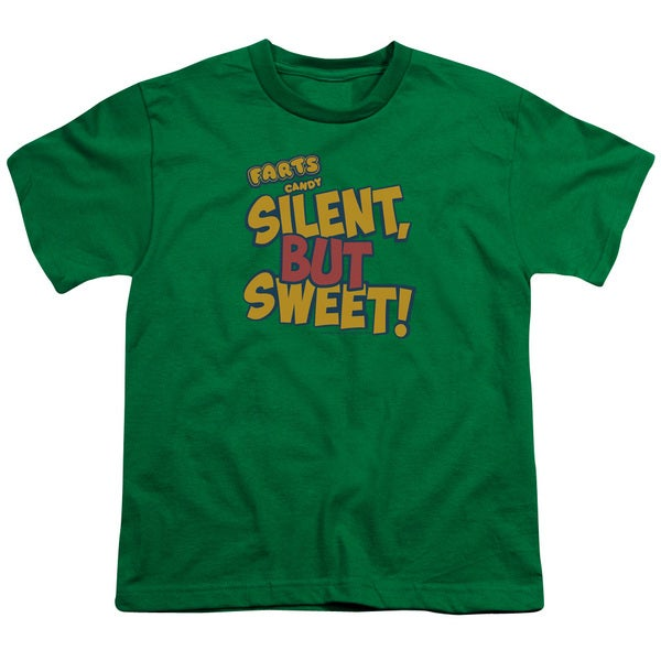 Farts Candy/Silent But Sweet Short Sleeve Youth 18/1 in Kelly Green