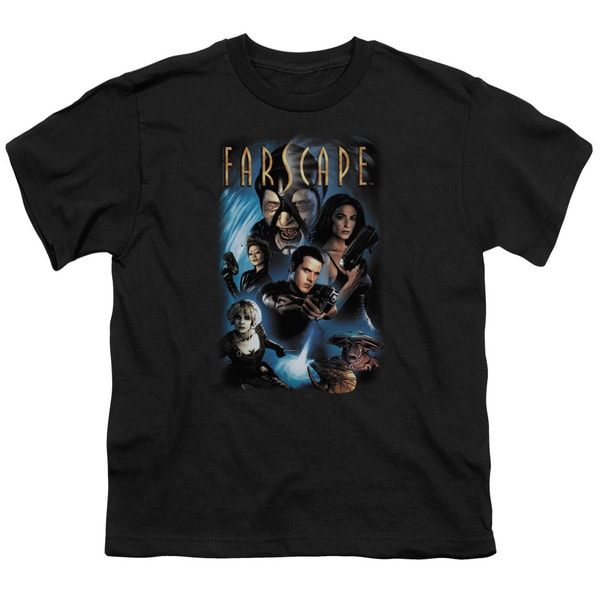 Farscape/Comic Cover Short Sleeve Youth 18/1 in Black