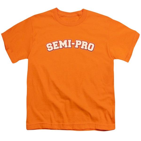 Semi Pro/Logo Short Sleeve Youth 18/1 in Orange
