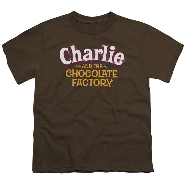 Chocolate Factory/Logo Short Sleeve Youth 18/1 in Coffee