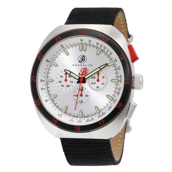 Brooklyn Watch Co. Floyd Men's Watch with Black Canvas Strap
