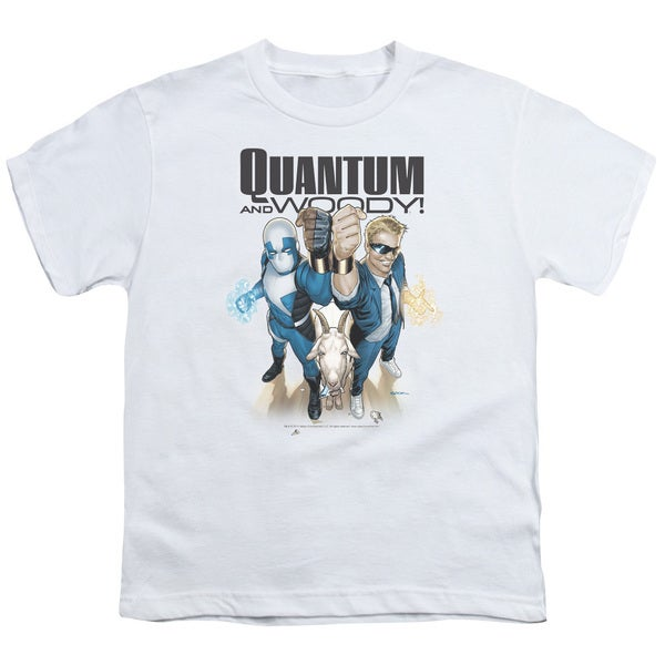 Quantum and Woody/Quantum and Woody Short Sleeve Youth 18/1 in White