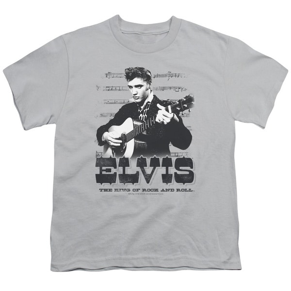Elvis/The King Of Short Sleeve Youth 18/1 Silver