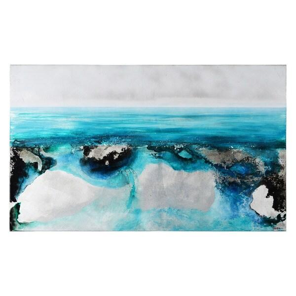 Renwil 'Azure Isle' Unframed Canvas Wall Art 21118407