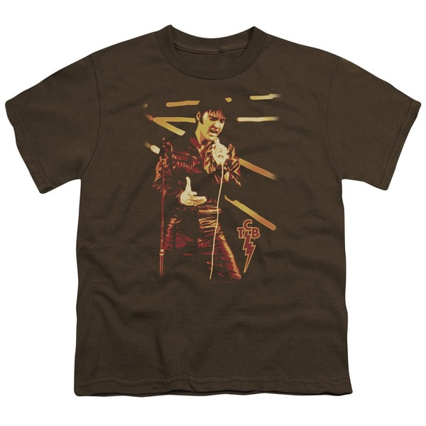 Elvis/Taking Care Short Sleeve Youth 18/1 Coffee