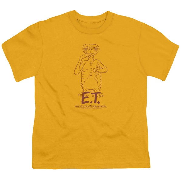 ET/Alien Swag Short Sleeve Youth 18/1 in Gold