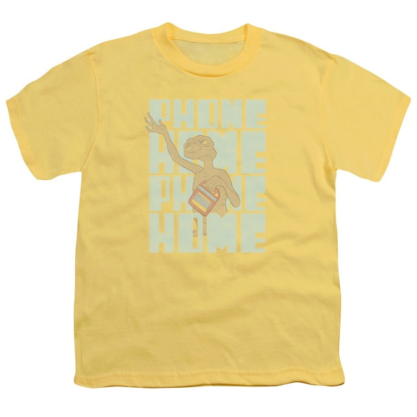 ET/Dropped Calls Short Sleeve Youth 18/1 in Banana