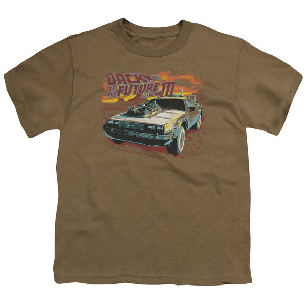 Back To The Future Iii/Wild West Short Sleeve Youth 18/1 in Safari Green