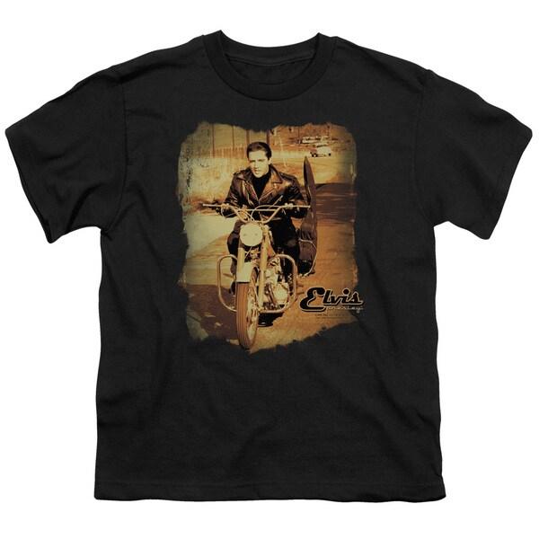 Elvis/Hit The Road Short Sleeve Youth 18/1 in Black