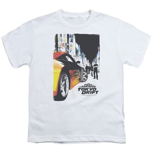 Tokyo Drift/Poster Short Sleeve Youth 18/1 in White