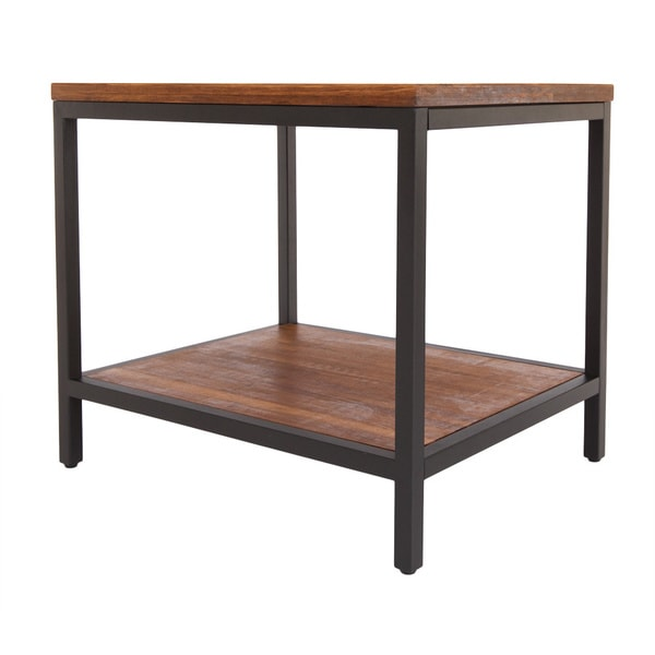 Bamboogle Brooklyn Loft Collection Black-framed Rectangular Side Table