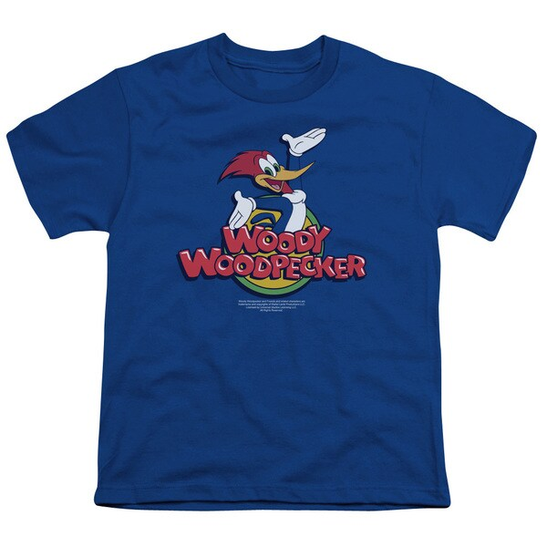 Woody Woodpecker/Woody Short Sleeve Youth 18/1 in Royal