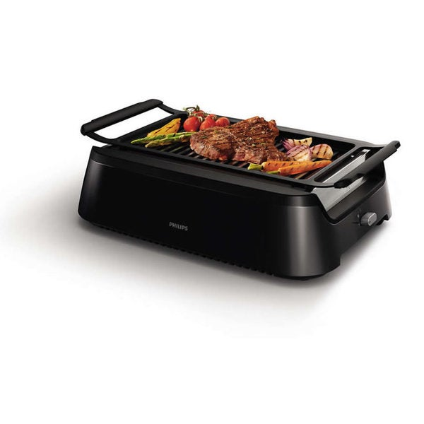 Philips Avance Collection Black Nonstick Indoor Grill