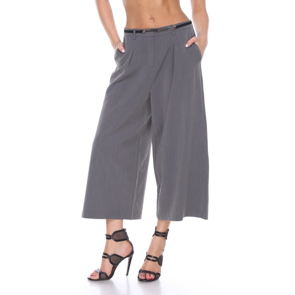 Stanzino Women's Grey Wide-leg Capris